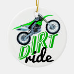 Motocross addicts Double-Sided ceramic round christmas ornament