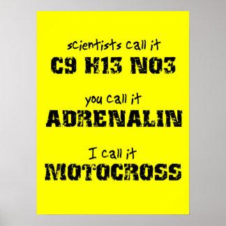 Motocross Adrenalin Dirt Bike Poster
