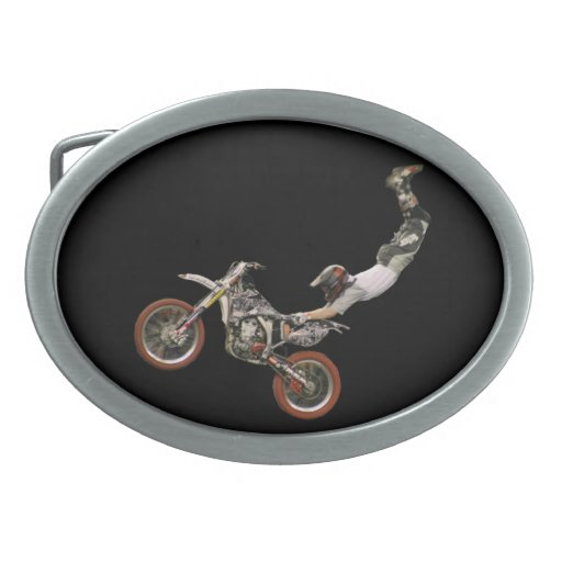 motocross aerial oval belt buckles
