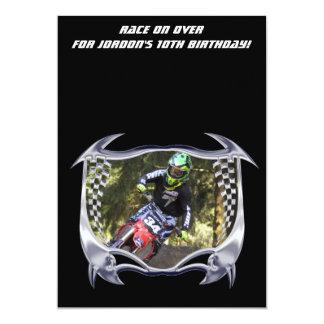 Motocross and chrome card