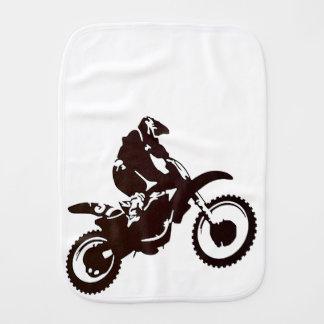 Motocross Baby Burp Cloth