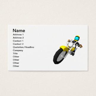 Motocross Biker Business Card