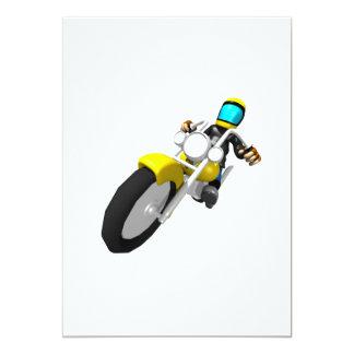 Motocross Biker Card