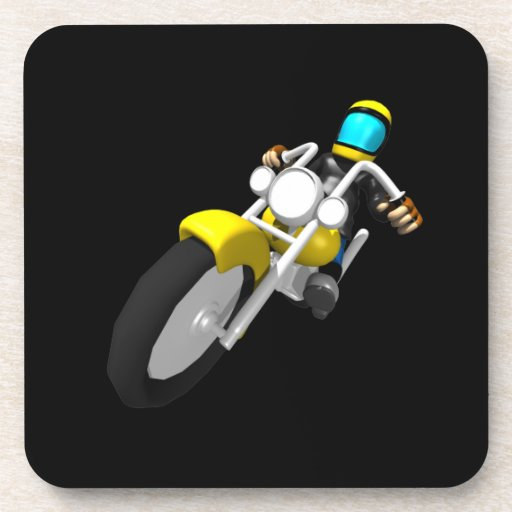 Motocross Biker Coasters