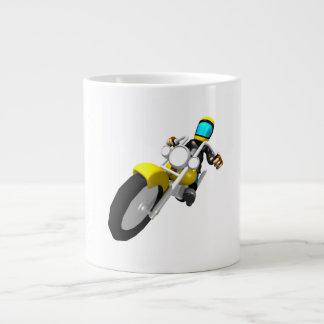 Motocross Biker Large Coffee Mug