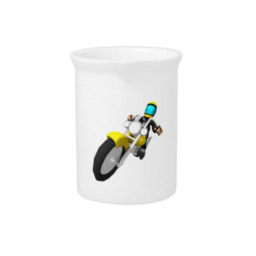 Motocross Biker Beverage Pitcher