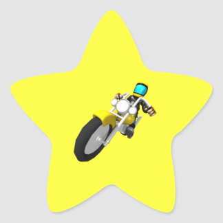 Motocross Biker Star Sticker