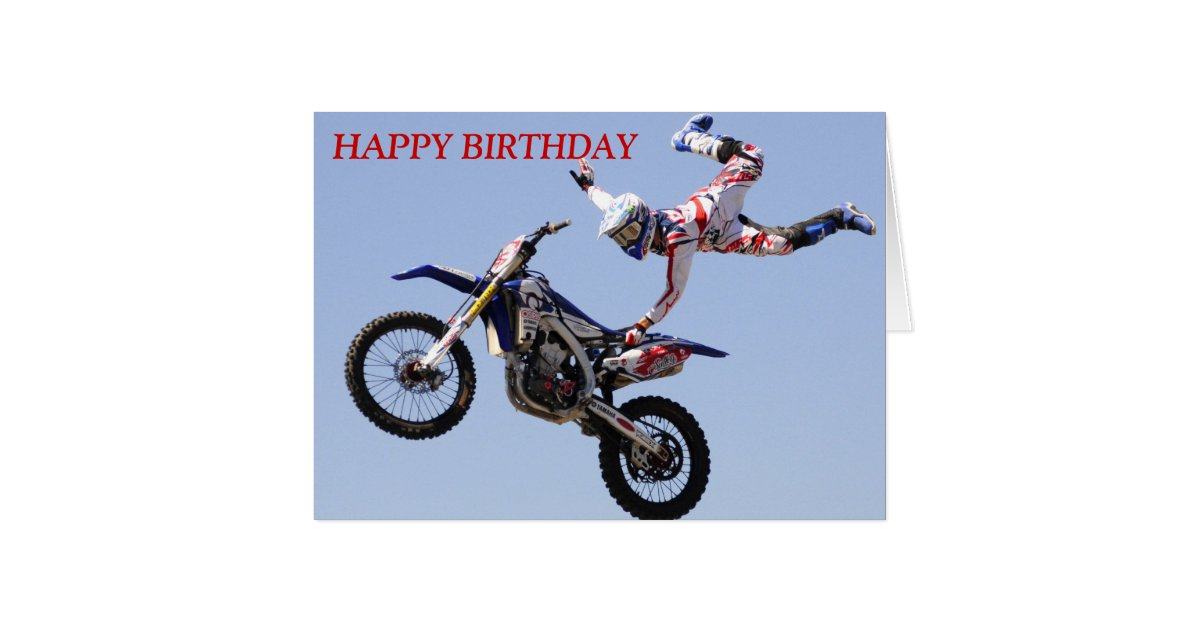 Motocross Birthday Card Zazzle Com