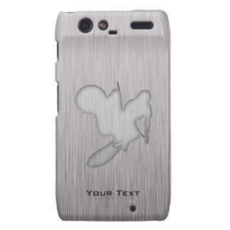 Motocross; Brushed Metal-look Droid RAZR Cases