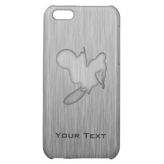 Motocross; Brushed Metal-look iPhone 5C Covers