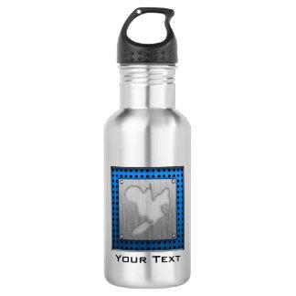Motocross; Brushed Metal-look Water Bottle