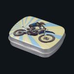 "Motocross Candy Tin<br><div class=""desc"">Motocross themed candy tin.</div>"