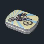 """Motocross Candy Tin<br><div class=""""desc"""">Motocross themed candy tin.</div>"""