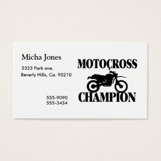 Motocross Champion Dirt Bike Business Card