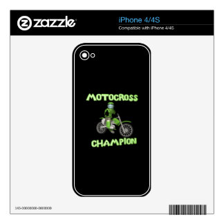Motocross Champion Decal For The iPhone 4S