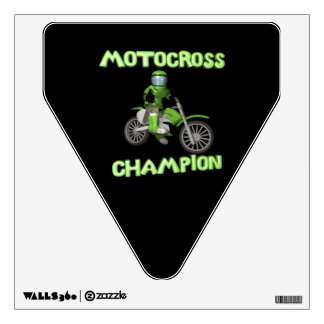 Motocross Champion Wall Decal