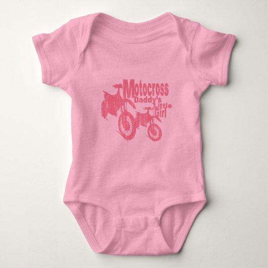 Motocross Daddy's Girl Baby Bodysuit