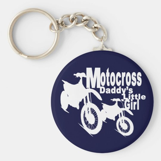 Motocross Daddy's Girl Keychain