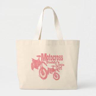 Motocross Daddy's Girl Large Tote Bag
