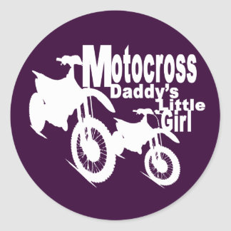 Motocross Daddy's Girl Stickers