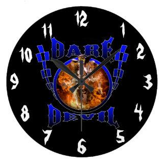 Motocross Dare Devil Wall Clock
