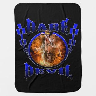 Motocross Dare Devil Receiving Blankets