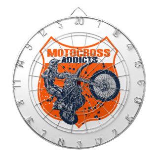 Motocross Dartboard With Darts