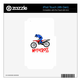 Motocross Decals For iPod Touch 4G
