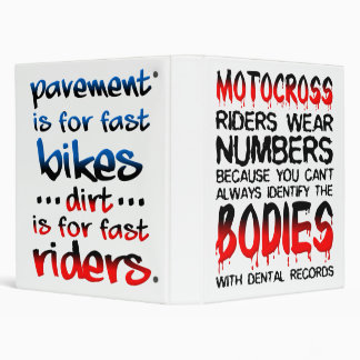 Motocross Dirt Bike Binder