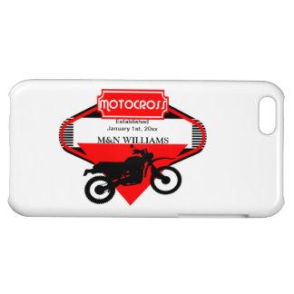 Motocross Dirt Bike Black Red Customize Logo iPhone 5C Covers