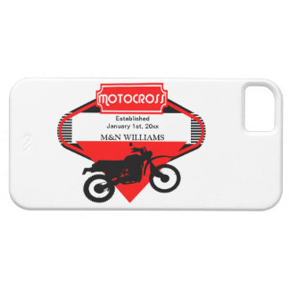 Motocross Dirt Bike Black Red Customize Logo iPhone SE/5/5s Case