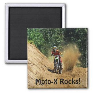 Motocross Dirt-Bike Champion Race 2 Inch Square Magnet