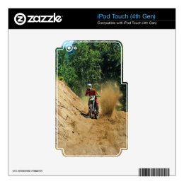Motocross Dirt-Bike Champion Race Decals For iPod Touch 4G