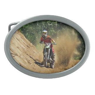 Motocross Dirt-Bike Champion Race Oval Belt Buckle