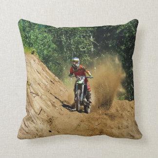 Motocross Dirt-Bike Champion Race Throw Pillow