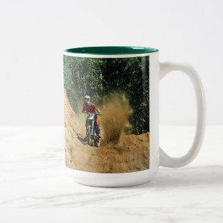 Motocross Dirt-Bike Champion Race Two-Tone Coffee Mug