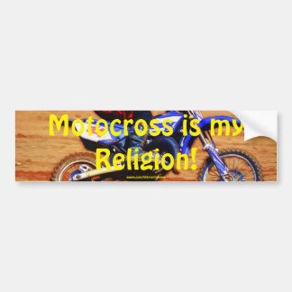 Motocross Dirt-Bike Champion Racer 4 Bumper Sticker