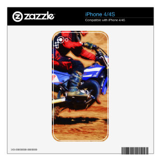 Motocross Dirt-Bike Champion Racer 4 Decals For iPhone 4