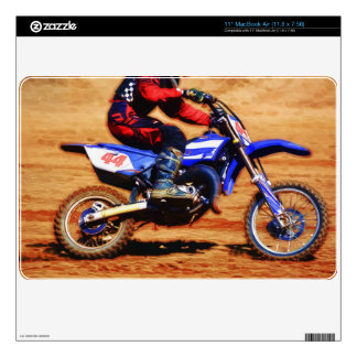 Motocross Dirt-Bike Champion Racer 4 Decals For The MacBook