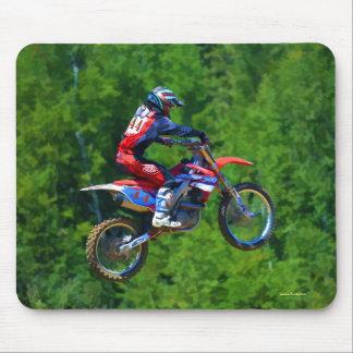 Motocross Dirt-Bike Champion Racer Mouse Pad