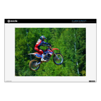 "Motocross Dirt-Bike Racer Getting Air 2 Decal For 13"" Laptop"