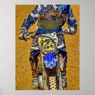 Motocross Dirt-Bike Racing Champion Close-up Poster
