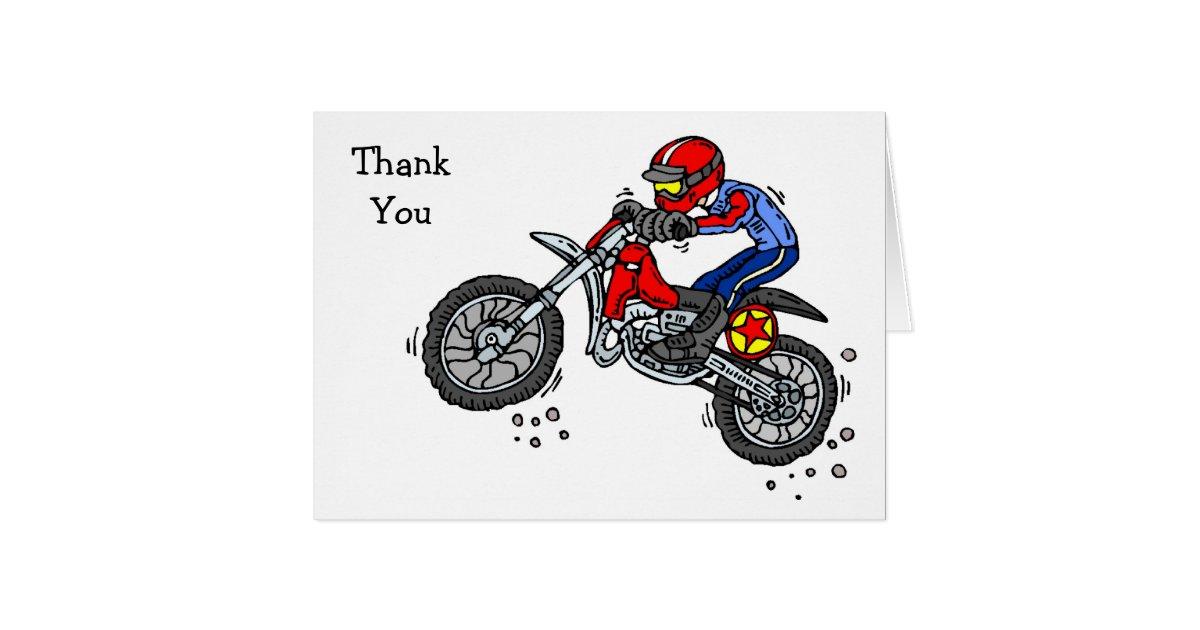motocross dirt bike thank you cards