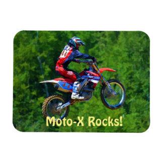 Motocross Dirt-Racer Sports Art Magnet