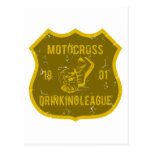 Motocross Drinking League Postcard