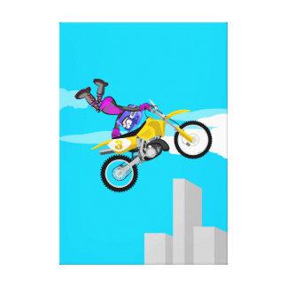 Motocross extreme adrenalin to the maximum canvas print