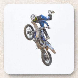 Motocross Extreme Tricks Beverage Coasters