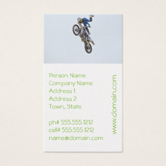 Motocross Extreme Tricks Business Card