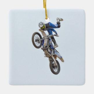 Motocross Extreme Tricks Ceramic Ornament