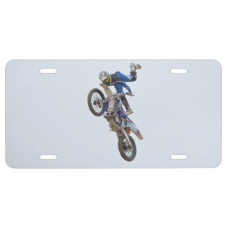 Motocross Extreme Tricks License Plate
